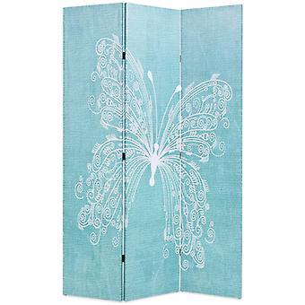 vidaXL غرفة مقسم قابل للطي 120 × 170 سم فراشة الأزرق