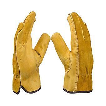Gants de jardinage pour roses gants de travail en cuir anti-glissement Gants de jardin conducteur