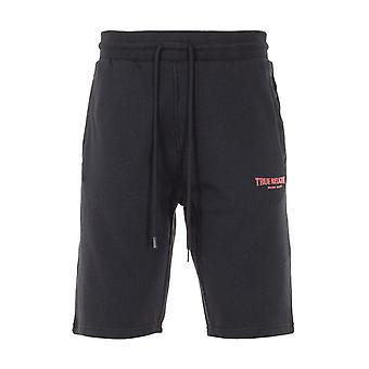 True Religion Logo Sweat Shorts - Black