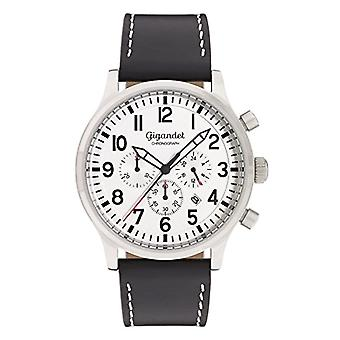 Gigandet Destination Men's Watch Analog Chronograph Quartz Black Silver G15-002