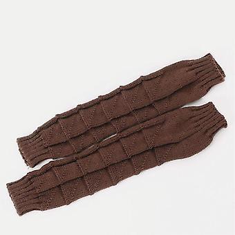 Guantes de medio dedo de lana nueva, guantes para mujeres para hombres
