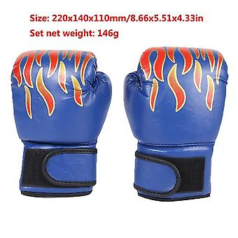 Kids Breathable Boxing Training Fighting  Pu Leather Gloves