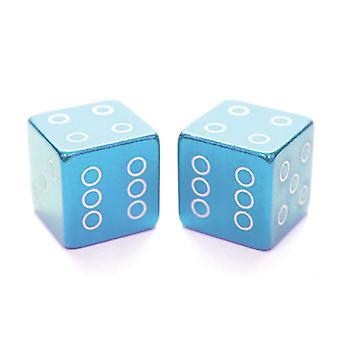 ETC Dice Valve Caps Schraeder Unité de vente: PAIR Blue