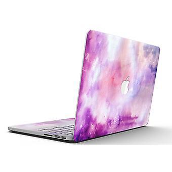 Blå til purps absorbert akvarell tekstur - Macbook Pro med netthinne