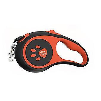 Automatické teleskopické trakční vodítko pro domácí psy, nylonové dog trakční lano (oranžové)