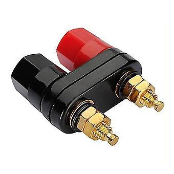 5PCS Couple Terminals Red Black Connector Amplifier Binding Post Banana Speaker Plug Jack