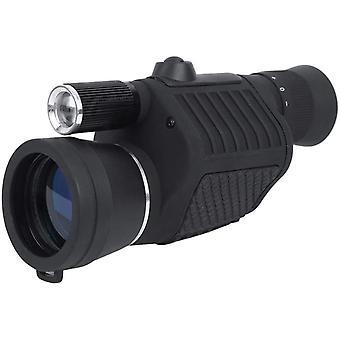 Monocular telescope, compact 8x40 compass flashlight Waterproof HD telescope for bird watching,(black)