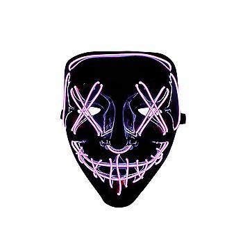 Led Light Up Маска Хэллоуин Маска Страшное Лицо Маска для Мужчин Женщин Фестиваль Косплей Костюм
