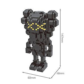 Pienet hiukkaset Lego Building Blocks DIY (musta)