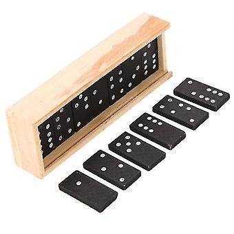 Funny Domino Sæt trækasse byggesten