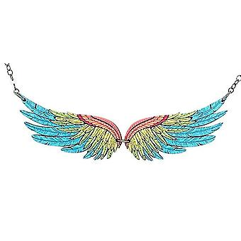 Macaw Wing Necklace #6121(As Pictured)
