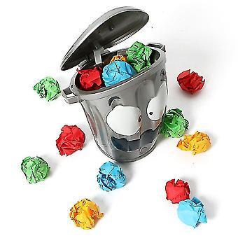 Elektrische Crazy Trash Can Indoor Shooting Spiel Loony Bin Anti Stress Trash Kann Spielzeug
