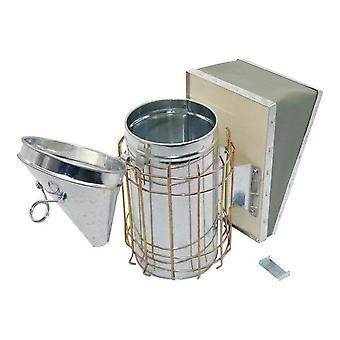 1 PC تربية النحل أداة الفولاذ المقاوم للصدأ خلية النحل المدخن المجلفن الحديد مع معدات تربية النحل حماية الدرع الحراري