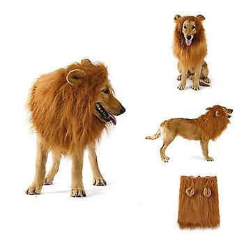 Funny Pet Dog Lion Mane Wig Cap Hat For Cat Dog Halloween Christmas Party Decoration Large Dogs