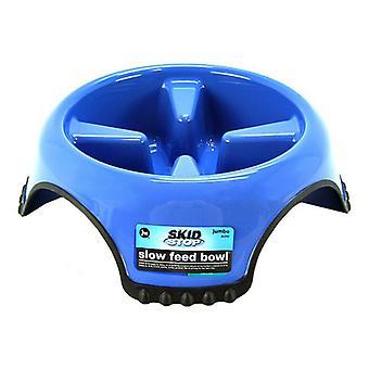 "JW Pet Skid Stop Slow Feed Bowl - Jumbo - 13"" Wide x 3.75"" High (10 cups)"