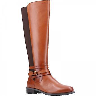 Hush Puppies Vanessa Ladies Leather Tall Boots Tan
