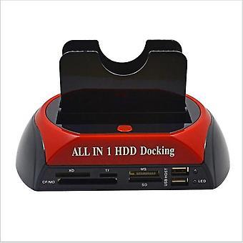 Minden 1 Hdd dokkoló állomás eSATA usb 2.0/3.0 adapter 2.5/3.5 merevlemez-meghajtó dokkolásához