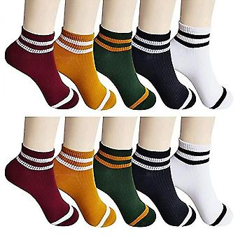 10 Pairs breathable ladies casual cotton ankle socks mz974