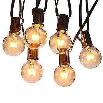 Cheese dips spreads g40 waterproof outdoor lights 25 feet 26 glass bulbs for backyard porch balcony party decor