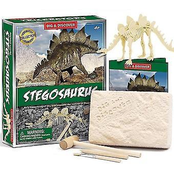 Børn 6 + pædagogiske diy dinosaur fossile arkæologiske grave legetøj(D7142)
