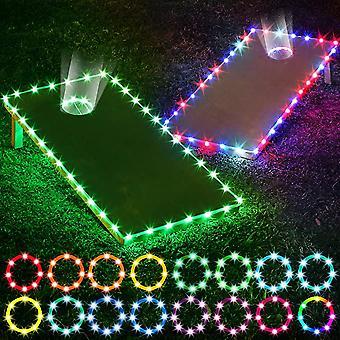 Cornhole Board Lights 2 Définir le bord du trou de maïs et l'anneau Led Lights
