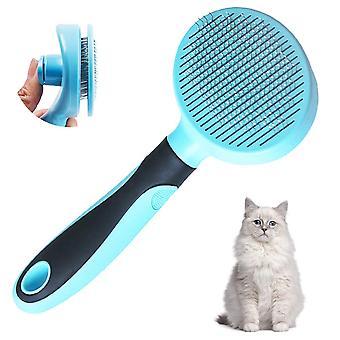 Cat Brush Soft Dog Grooming Tool supprime le sous-poil lâche autonettoyant