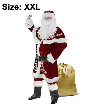 Mens Santa Costume Set Christmas Deluxe Adult Suit