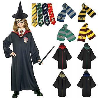 Harry Potter 6db set Magic Wizard Cosplay Fancy Dress Cap Köpeny jelmez