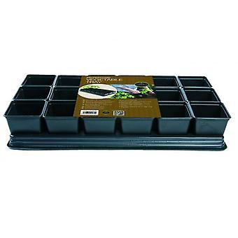 Zöldséges tálca 18 x 9cm sq POTS a növekvő paprika, uborka, chili ' s & paradicsom Kertészet