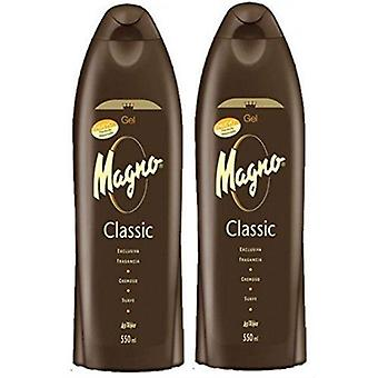 Magno Classic Shower Gel 550ml (2-Pack)