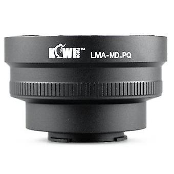 Kiwifotos lente adattatore di montaggio: Permette di Minolta MC/MD montare lenti essere utilizzato su Pentax Q, Q10