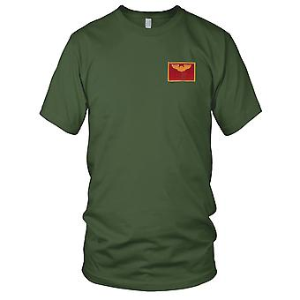 USAF Airforce - Pilot Wings Air Force gestickt Patch - Gold und rot Herren-T-Shirt