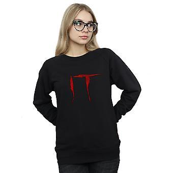 It Women's Distressed Logo Sweatshirt