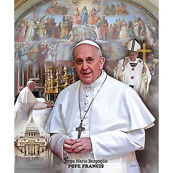 Pope Francis Poster Print by Wishum Gregory (20 x 24)