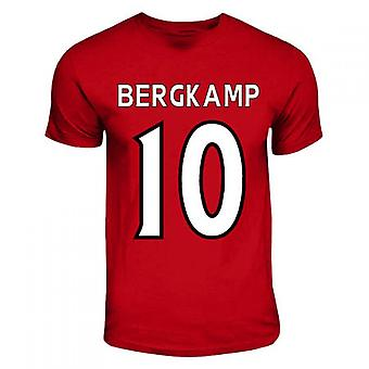 Dennis Bergkamp Arsenal Hero T-shirt (rood)