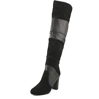 Bar III Womens Naomi Leather Pointed Toe Knee High Fashion Boots