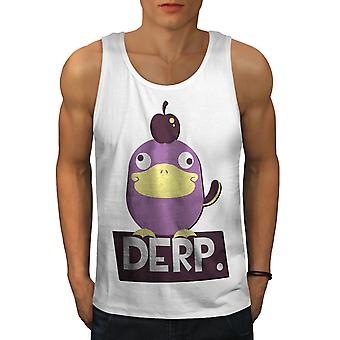 Derp Duck Joke Cool Men WhiteTank Top | Wellcoda