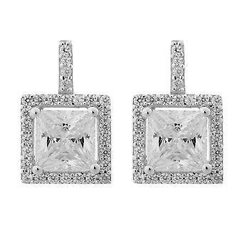 Orphelia Silver 925 Earring Square zirkonium ZO-6046