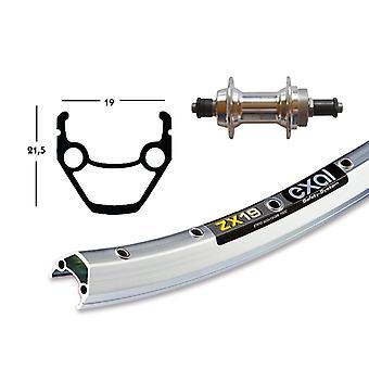 Bike parts 28″ rear Exal ZX 19 + screw circle around 6/7-speed hub (QR)