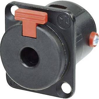 Neutrik NJ3FP6CBAG 6,35 mm ljuduttag ärm socket, rak stift antal stift: 2 Mono svart 1 dator
