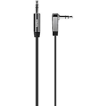 كابل الصوت جاك/فونو بلكين [1 × المكونات جاك 3.5 مم-1 x المكونات جاك 3.5 مم] 0.90 م الأسود مرنة للغاية