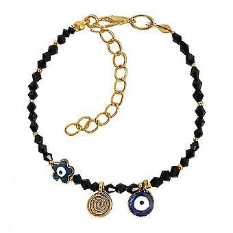 Evil Eye Protection stjärnan amulett Royal svart accenter magiska kraft Symbol Lucky charm armband