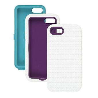 5 Pack -Ventev - Coregridx Combo Pack for Apple iPhone 5 - White Gel with Aqua & Purple Shells
