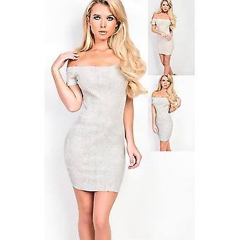IKRUSH Womens Vivian gestrickt figurbetonten Kleid