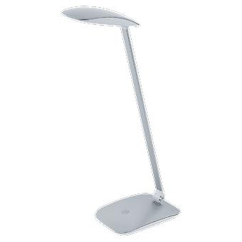 Eglo Cajero Touch Dimbare LED zilver afwerking bureaulamp