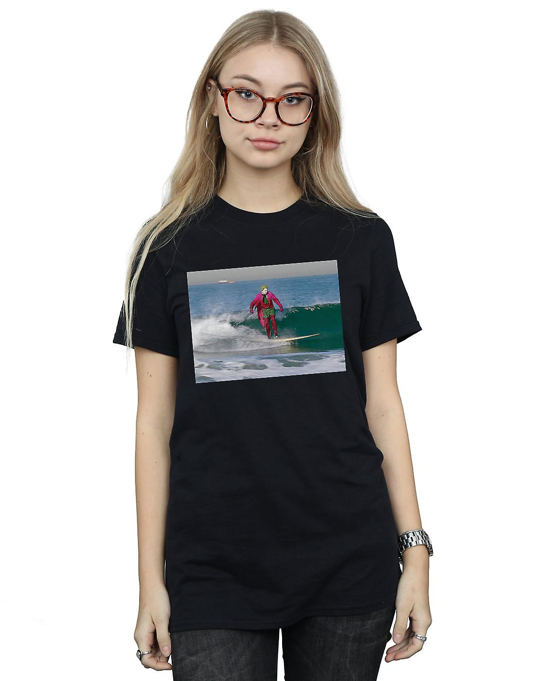 DC Comics Women's Batman TV Series Joker Surfing Boyfriend Fit T-Shirt