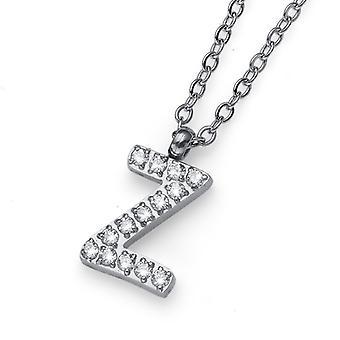 Oliver Weber Pendant Initial Z Steel CZ Crystal