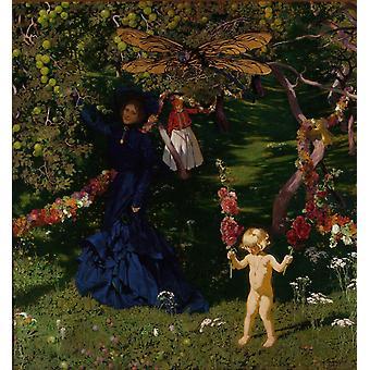 The Strange Garden, Mehoffer Jozef, 50x50cm