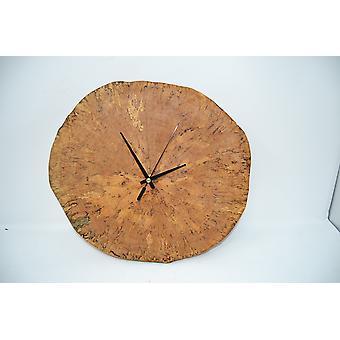 Holz Wanduhr Holzuhr Uhr Baumscheibe 33 x 31 cm Made in Austria Uhr Birke Betula Uhr wallclock clock Geschenk Geschenkidee Holzdeko Dekoration Deko Holzdekoration