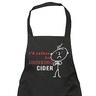 Mäns jag skulle hellre dricka Cider svart förkläde